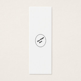 Create Your One Of A Kind Bookmark Mini Business Card