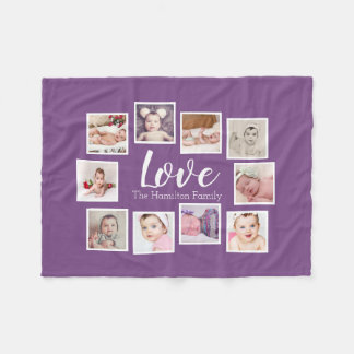 Create Your Own 10 Photo Collage Personalised Fleece Blanket