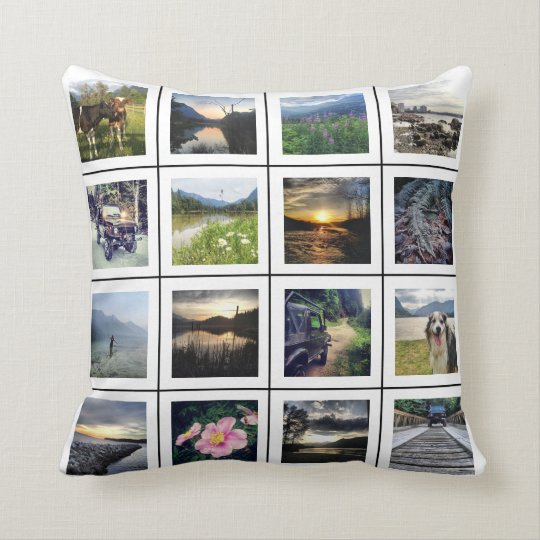 Create your Own 32 Photo Personalised Instagram Cushion
