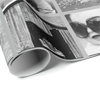 Create-Your-Own 42-Photo Collage Gift Wrap Wrapping Paper