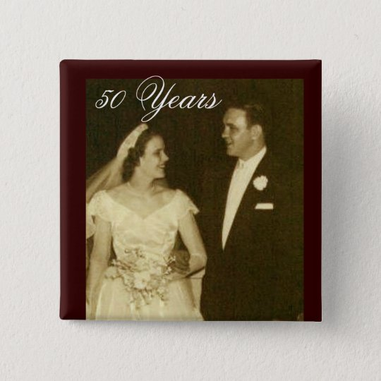 Create your own 50th Anniversary Invitations 15 Cm Square Badge