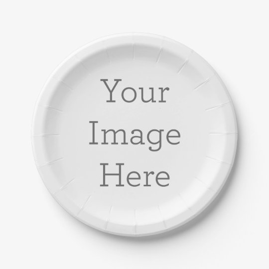 Custom Paper Plates 7 in