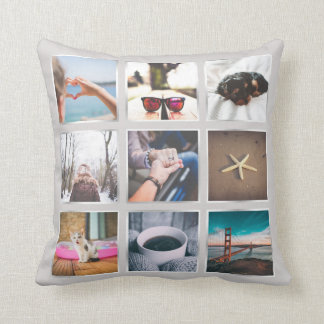 Create Your Own 9 Photo Collage Instagram Pillow