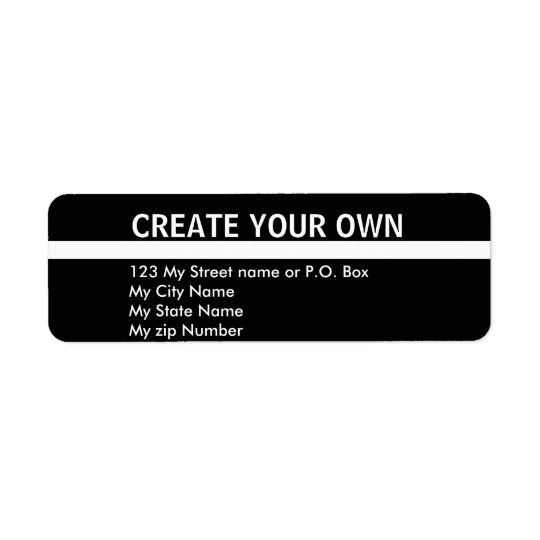 Create Your Own 9 simple return address Label,