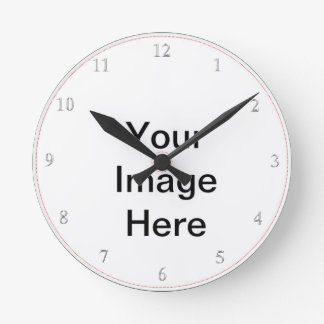 Create Your Own- Add Image Custom Text Round Clock