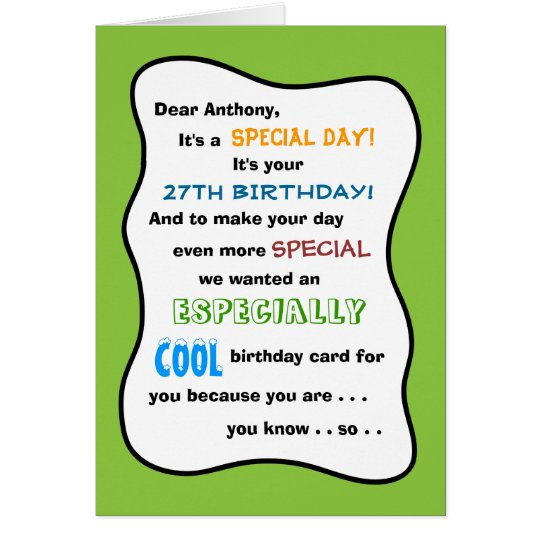 Create Your Own Any Age Funny Birthday Card