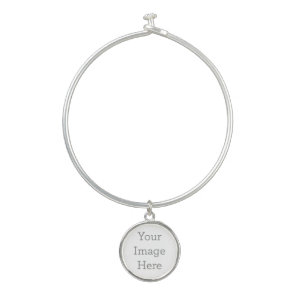 Create Your Own Bangle Bracelet With Round Charm