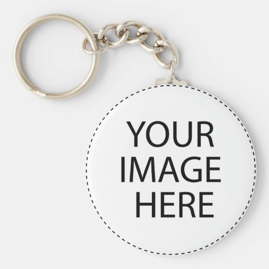 create your own basic round button key ring