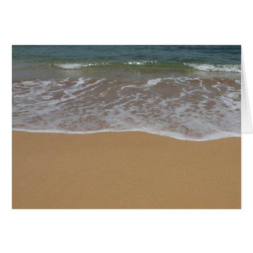 Create your own beach theme cards