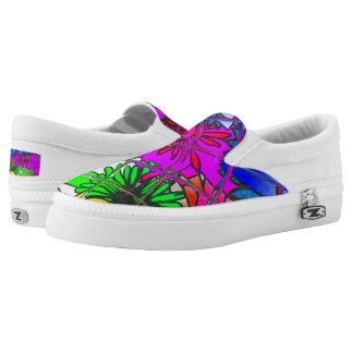 Create your own Beautiful Colorful Clothing floral Slip On Shoes