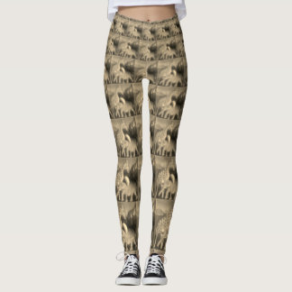 Create your own Beautiful Giraffe Elephant print Leggings
