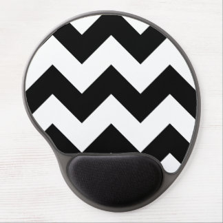 Create Your Own Big Black Zigzag Pattern Gel Mouse Mat