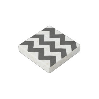 Create Your Own Big Black Zigzag Pattern Stone Magnet