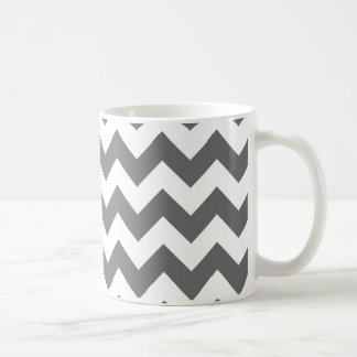 Create Your Own Big Charcoal Zigzag Pattern Coffee Mug