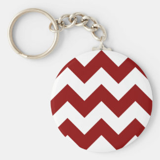 Create Your Own Big Dark Red Zigzag Pattern Key Ring