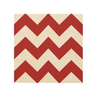 Create Your Own Big Fire Brick Zigzag Pattern Wood Print