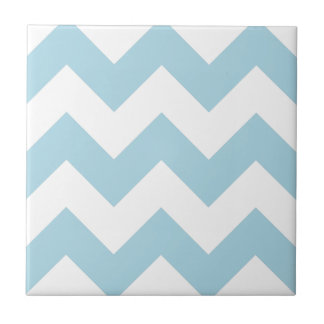 Create Your Own Big Light Blue Zigzag Pattern Small Square Tile