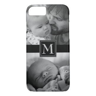 Create your own black and white monogram photo iPhone 8/7 case