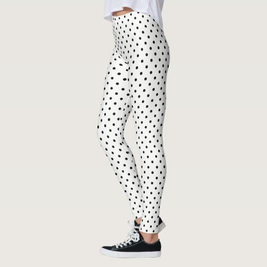 Create Your Own Black Polka Dot Leggings