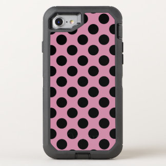 Create Your Own Black Polka Dot Pattern OtterBox Defender iPhone 7 Case