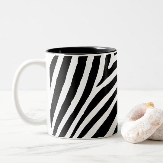 Create Your Own Black Zebra Stripe Two-Tone Coffee
