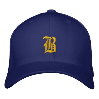 Create Your Own Blue and Gold School Colors Embroidered Hat