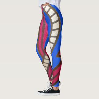 Create Your Own Blue nautical latest Outdoor Games Leggings