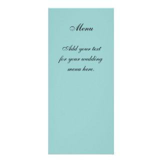 Create Your Own Blue Wedding Menu Cards Personalised Rack Card