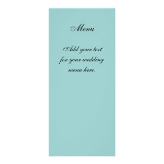 Create Your Own Blue Wedding Menu Cards Personalised Rack Card