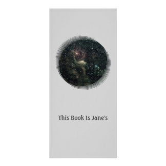 Create Your Own Bookmark With Background of Stars Rack Card Template