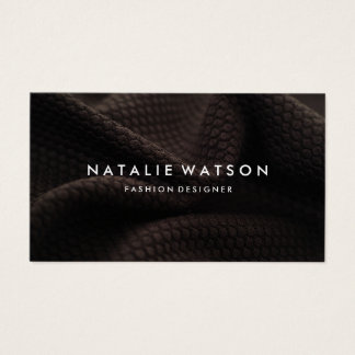 Create Your Own Business Card Brown Fabric 2