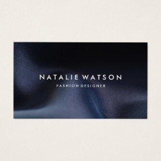 Create Your Own Business Card Dark Blue Fabric