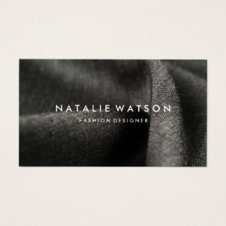 Create Your Own Business Card Modern Black Fabric
