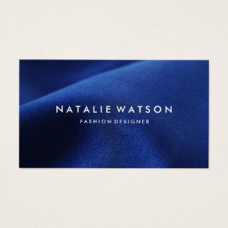 Create Your Own Business Card Modern Blue Fabric 2