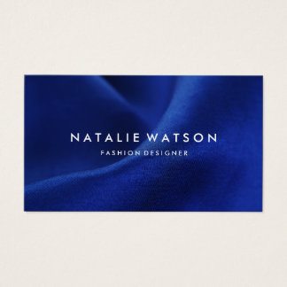 Create Your Own Business Card Modern Blue Fabric 3