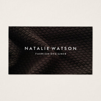 Create Your Own Business Card Modern Brown Fabric
