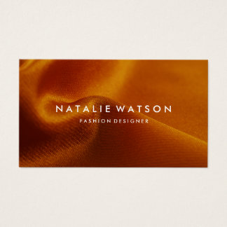 Create Your Own Business Card Orange Fabric 2