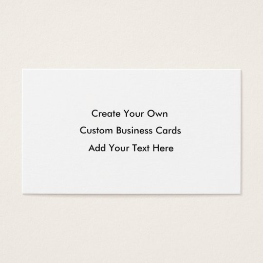 Create Your Own Business Cards - White