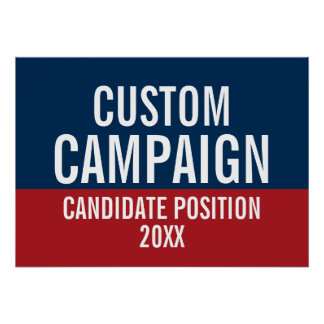 Create Your Own Campaign Gear Poster