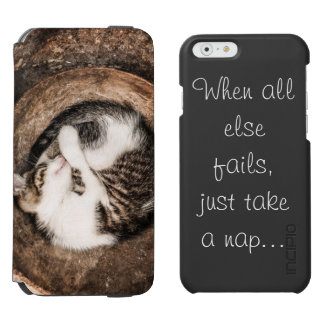 Create Your Own - Cat Napping Incipio Watson™ iPhone 6 Wallet Case
