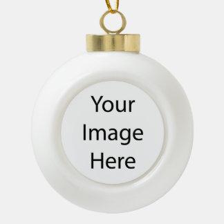 Create Your Own Ceramic Ball Ornament (Poinsettia)