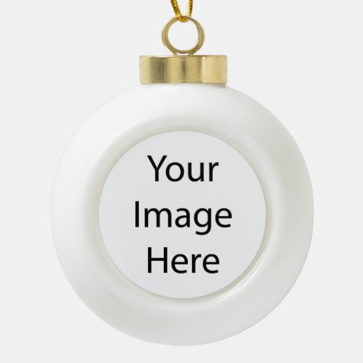 Create Your Own Ceramic Ball Ornament (Tree)