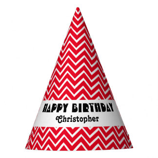 Create Your Own Chevron Party Hat