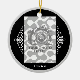 Create Your Own Circle Ornament Black Elegant