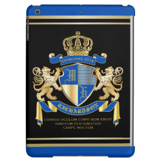 Create Your Own Coat of Arms Blue Gold Lion Emblem