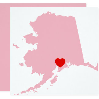 Create Your Own Color Alaska Wedding Card