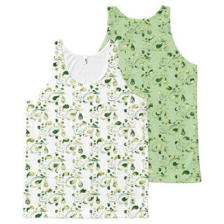 Create Your Own Color Change Green Paisley All-Over Print Tank Top