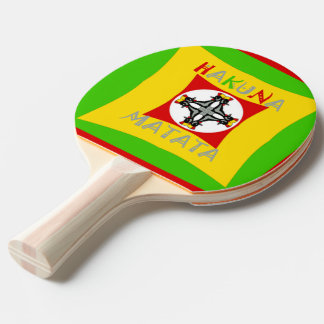 Create Your Own Colorful Hakuna Matata cute pretty Ping Pong Paddle