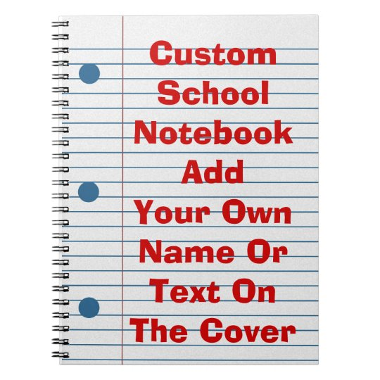 Create Your Own Cover School Paper Notebook