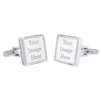 Create Your Own Cufflinks Silver Finish Cuff Links